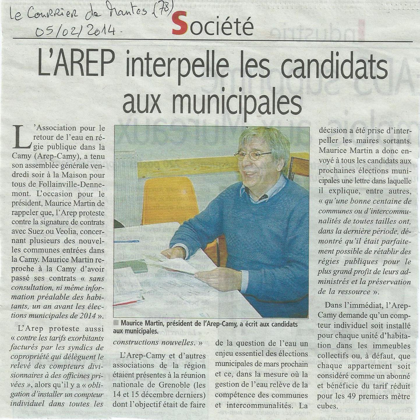 Prix et compteurs : dans les Yvelines, l'AREP interpelle les candidats