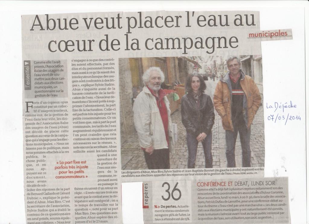 La depeche 7 mars 2014jpg